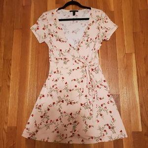 Forever 21 faux wrap floral dress